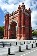 Triumphal Arch in Barcelona - image gallery