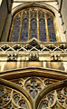 Window in the building of Cambridge University - photo stock