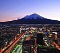 Yokohama and Mount Fuji - photo stock