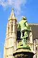 Sablon Church in Brussels - photography - statue of a warrior