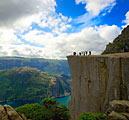 Preikestolen klippe i Norge - billede - landskaber