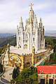 Mount Tibidabo in Barcelona - Expiatory Church of the Sacred Heart of Jesus