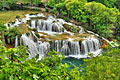 Krka National Park in Croatian  - pictures - waterfall Roski Slap