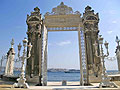 Photos - the gate of Dolmabahçe Palace in Istanbul, Turkey