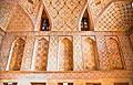 Photos - interior view of Ali Qapu grand palace in Isfahan, Iran.