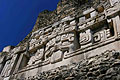 El Castillo pyramid at Xunantunich in Belize - photo stock