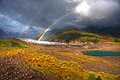 Iceland - landscapes - photo travels - rainbow over the glacier - Svinafellsjokul