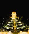 De Bahá'í Tuinen in Haifa - bankfoto's
