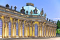 Sanssouci (summer palace of Frederick the Great) in Potsdam - travels