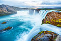 Iceland landscapes - holiday pictures - Godafoss Falls