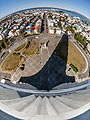 The view from the tower of the church of Hallgrímur, Reykjavík - photography