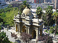 Santa Lucía Hill - a small hill in the centre of Santiago, Chile - the capital of Chile - photo stock