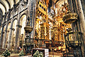 The interior of the Santiago de Compostela Cathedral - photo travels