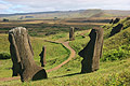 Moai at Rano Raraku on Easter Island  - pictures