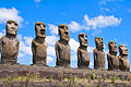 Moais at Ahu Tongariki - holiday pictures - Easter Island, Chile