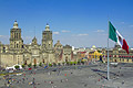 Plaza de la Constitucion (Zócalo) in Mexico City - capital of Mexico  - pictures