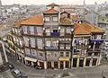 Foto podróże Porto - Kamienice w nadrzecznej dzielnicy, UNESCO World Heritage Site.