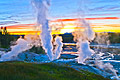 Norris Geyser Basin in Yellowstone National Park - travels