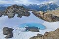 Glacial pool on top of Bear Mountain on Baranof Island, Alaska - photo stock