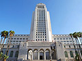 City Hall - entrance from Spring Street  in Los Angeles - travels