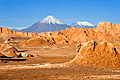 Atacama Desert - photos - volcanoes Licancabur and Juriques, Moon Valley
