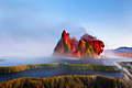 Fly Geyser (Fly Ranch Geyser) in Nevada - photos