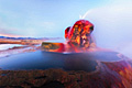 Fly Geyser (Fly Ranch Geyser) in Nevada  - pictures
