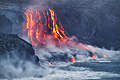 The eruption of lava in Hawaii (island) - Big Island   - pictures