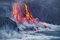 A erupção de lava no Ilha Havai - fotografias