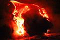 Fotos de feriado - Ilha Havai - lava de vulcão Kilauea