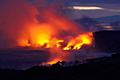 Volcanic eruption on Hawaii (island) - Big Island  - photo stock