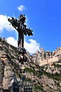 Cross sculpture - Montserrat Monastery