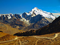 Mountain Peak Huayna Potosí (Andes) - Landscapes of  La Paz Department of Bolivia  - photo travels