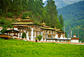 Monastery in Thimphu ( in the capital and largest city of Bhutan) - photo stock