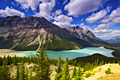 Peyto Lake and Caldron Peak -Holiday pictures - Banff National Park