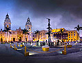 Lima - the capital of Peru - travels. The Plaza Mayor or Plaza de Armas of Lima.