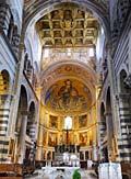 Interior view of the Duomo -  Pisa