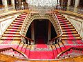 Dolmabahçe Palace in Istanbul, Turkey - photo stock - Crystal Staircase