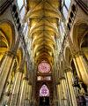 Interior view of the Cathedral of Notre-Dame in Reims